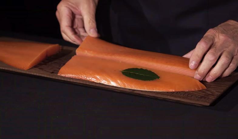 Il salmone affumicato per Claudio Cerati